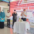 Bupati Wajo, H. Amran Mahmud, meluncurkan secara langsung inovasi Pak Ganteng di Sallo Mall Sengkang, Rabu (28/7/2021),