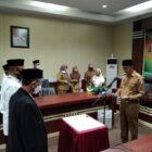 Wakil Bupati Wajo, Amran SE, yang melantik Juri/Dewan Hakim dan Panitera MTQ XXXIII Tingkat Kabupaten Wajo.